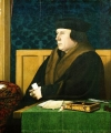 Thomas Cromwell was the vicegerent acting as the main agent for the king over spiritual matters. Portrait by Hans Holbein, 1532–1533.